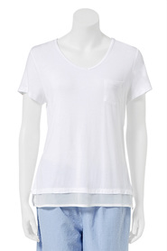 SASH & ROSE Ava V-Neck Short Sleeve Tee