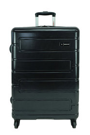 SWISS EQUIP Amalfi 72Cm 4Wd Expandable Trolleycase Black