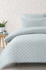 MOZI Max Textured Cotton Quilt Cover Set DB