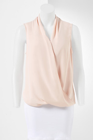 SIMPLY VERA VERA WANG Drape Front Sleeveless Blouse