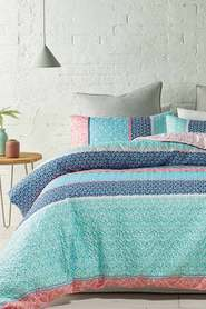 PHASE 2 Saville Soft Touch Quilted Microfibre Quilt Cover Set QB