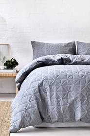 GAINSBOROUGH Pender Quilted Cotton Jersey Quilt Cover Set QB
