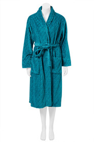 SASH & ROSE WOMENS DIAMOND CUT PILE FLEECE GOWN