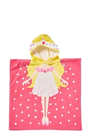 SOREN Velour Kids Beach Poncho Princess