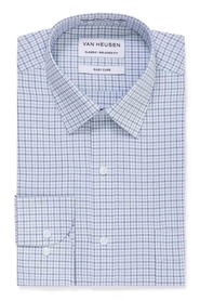 VAN HEUSEN SKY AND NAVY CHECK SHIRT