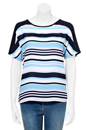 KHOKO SMART Spliced Stripe T Shirt | Tuggl