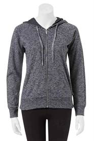 BONDS womens textured terry zip thru hoodie