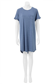 SASH & ROSE WOMENS RUFFLED SHORT SLEEVE NIGHTIE