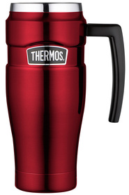 THERMOS King Stainless Steel Red Travel Mug 470ml