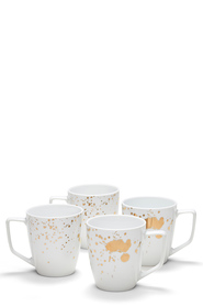 SALT & PEPPER POLLOCK MUG GOLD 350ML 4PC