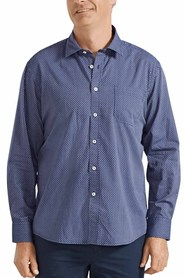 BACK BAY Soft Wash Cotton Textured Stripe Shirt