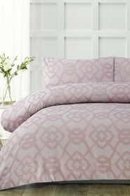 ACCESSORIZE Clover Jacquard Quilt Cover Set QB