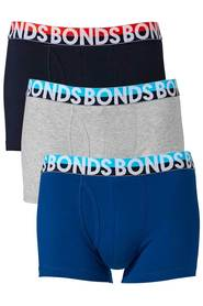 BONDS 3 Pack Everyday Trunk