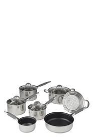 DAVIS AND WADELL 7pc Stainless Steel Cookset