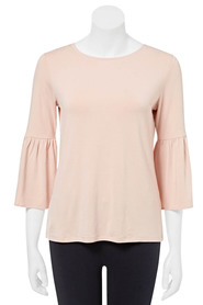 KHOKO COLLECTION Alexis Fluted Sleeve Top
