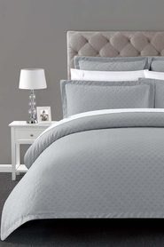 ELYSIAN Dorchester Jacquard Quilt Cover Set Queen Bed