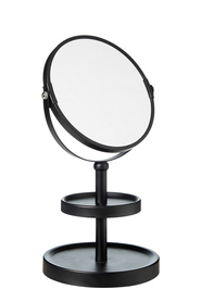 STORE & ORDER Loft Double Sided Mirror 2 Tier Black