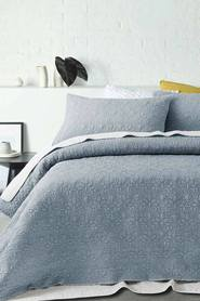 ACCESSORIZE Serah Washed Quilted Microfibre Coverlet Set QB/KB