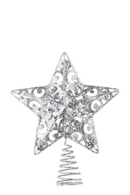 SOREN Winter Wonderland Scroll Star Tree Topper Silver