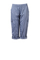 SAVANNAH ELSTIC WAIST 3/4 P, CHAMBRAY, 8