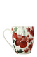 MAXWELL & WILLIAMS POINSETTIA COUPE MUG 350ML CHERRY