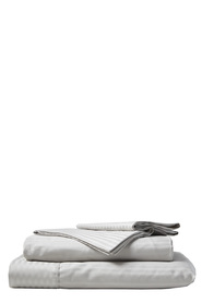 RAMESSES 1000 Thread Count Stripe Pima Cotton Sheet Set Queen