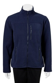 BRONSON Zip Thru Solid Bonded Polar Fleece Jacket