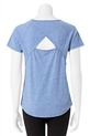 LMAA CROSS BACK TEE LMA70, BLUE-MARLE, S