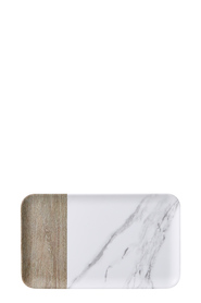 SHAYNNA BLAZE Oblong Tray Marble Decal