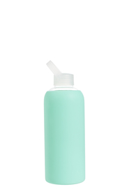 S+N GLASS SILICON WRAP BOTTLE 1L-GREEN