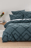 WILUNA CHENILLE QUILT COVER SET QUEEN BED