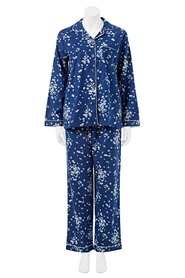 SASH & ROSE WOMENS FLANNELETTE PJ SET