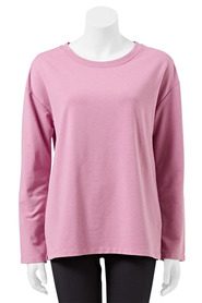 LMA ACTIVE Womens Ribbon Shoulder Crew