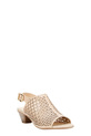 EASY STEPS PEEP TOE PERFORATED, NUDE, 36
