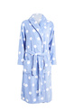 SASH & ROSE PRINT FLEECE GOWN, BLUE, XS
