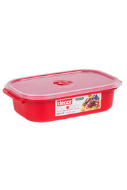 DECOR Microsafe  Microwavable Oblong Food Storage Container 900Ml