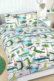 HAPPY KIDS Crocodile Glow in the Dark Quilt Cover Set DB
