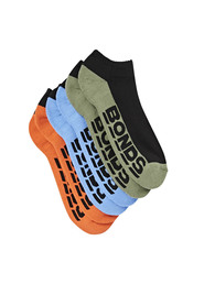 BONDS 3 Pack Logo Low Cut Sock