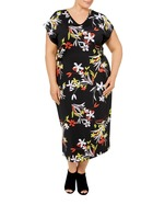 KHOKO PLUS Tie Side Jersey Dress Plus Size