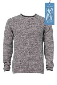 URBAN JEANS CO Crew Neck Textured Knit Jumper