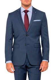 PIERRE CARDIN Wool Blend 2 Button Single Breasted Suit Jacket