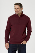 Mens Gisborne Chest Rib Quarter Zip Fleece Top