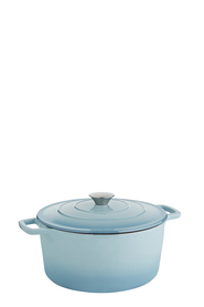 SMITH & NOBEL Traditions Cast Iron Casserole Blue 5L