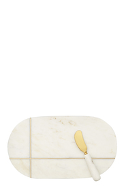 2PC MARBLE EDEN OVAL CHEESE BOARD