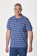 Men's Richmond Stripe Birdseye Cotton Polo