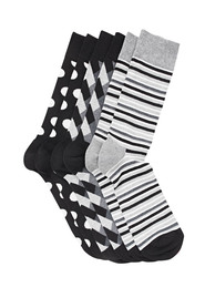 HAPPY SOCKS 3PK COTTON RICH SOCKS