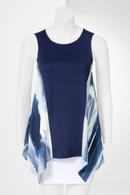 SIMPLY VERA VERA WANG Abstract Swing Top with Panel Detail
