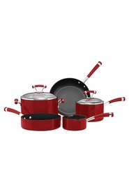 CIRCULON  5Pc Contempo Red Aluminium Cookset