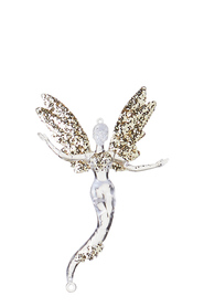 SOREN Winter Wonderland Fairy Hanging Ornament Champagne