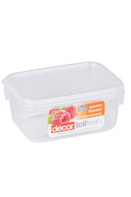 DECOR Tellfresh Plastic Oblong Food Storage Container 250Ml